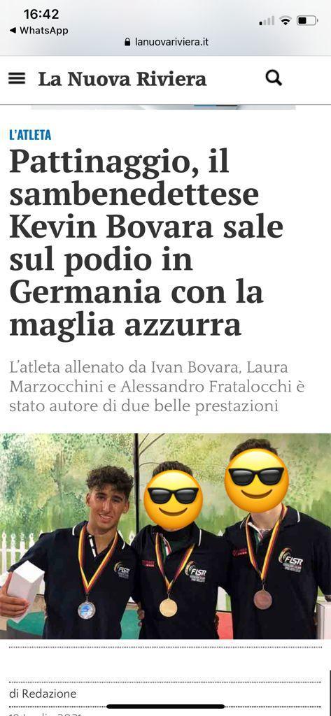Complimenti Kevin!!!